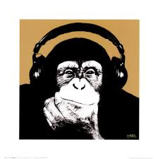 monkey-wearing-headphones