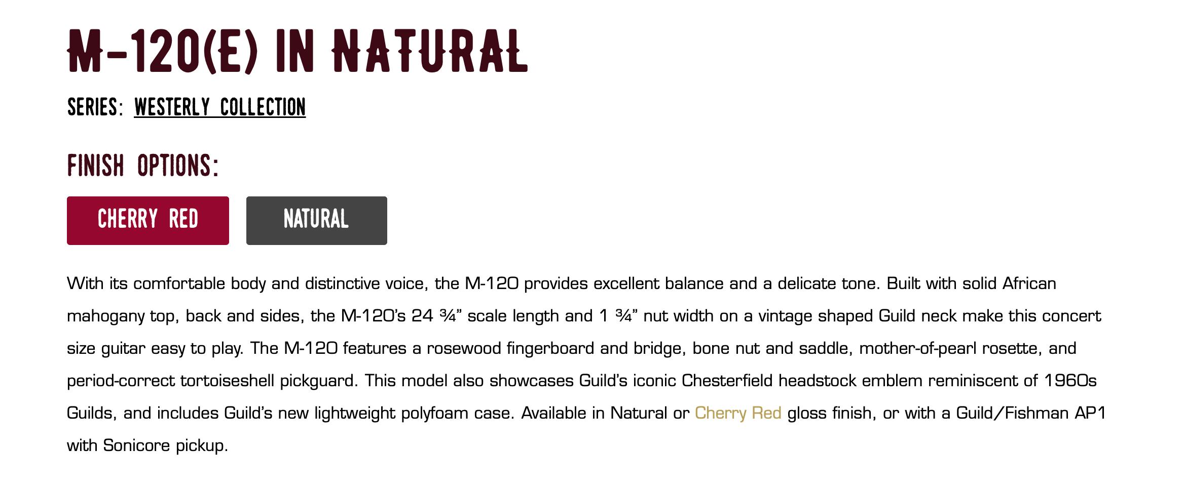 M-120 Guild Guitar